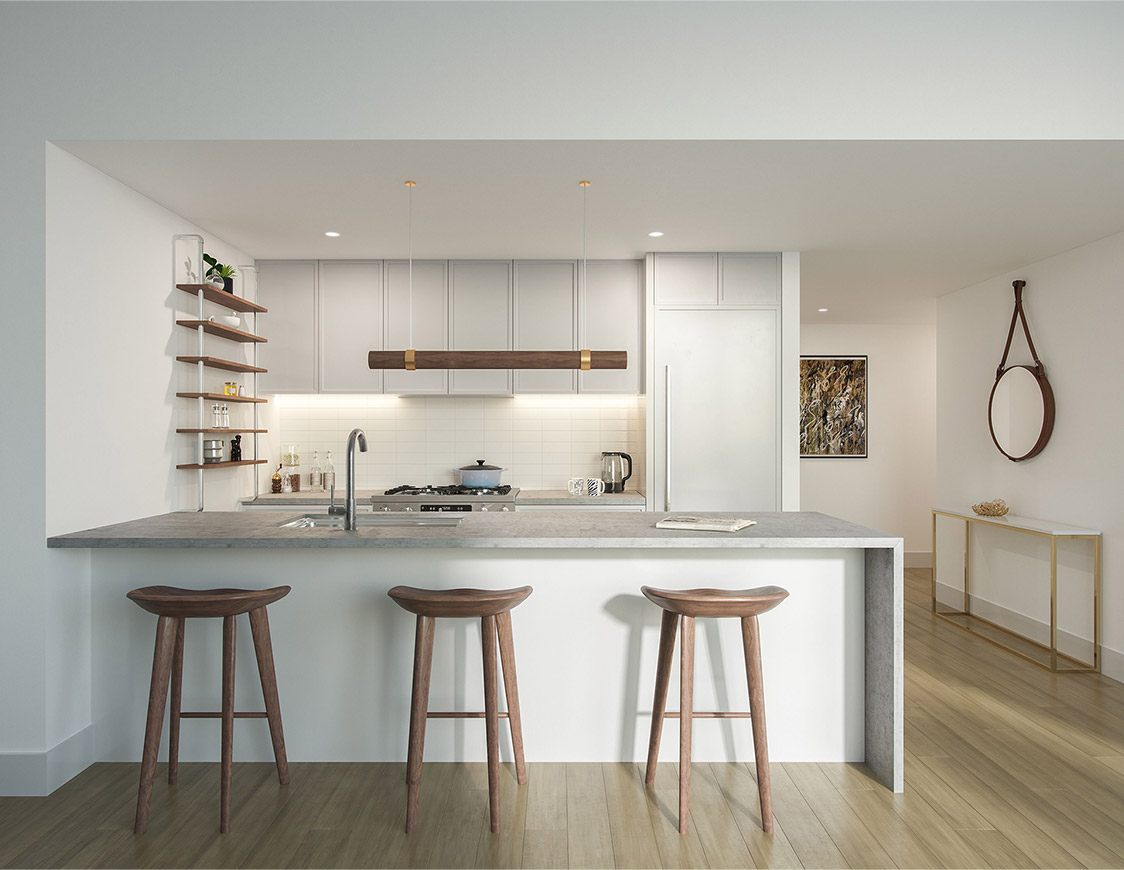 condo for sale in crown heights kitchen